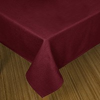 High Quality Loft Linen Table Cloth, 60 by 84-Inch, Red