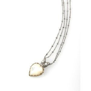 'Moon Star' Collection Rhodium Plated Enchanting Chain by Amaro Jewelry Studio Garnished with Heart...