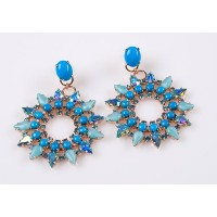 'Ocean' Collection 24K Rose Gold Plated Charming Earrings Created by Amaro Jewelry Studio Ornate...