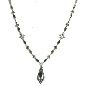 Amaro Jewelry Studio 'Primitive' Collection .925 Sterling Silver Plated Gorgeous Necklace Decorated...