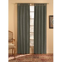 High Qualityede Tab Top Window Curtain Panel, Brown, 50-Inch X 120-Inch