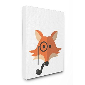 Stupellホーム飾りHipster Fox Illustrationストレッチキャンバス壁アート、16x 1.5X 20, Proudly Made in USA
