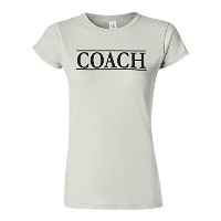 Coach Trainer Sport Funny Novelty White Women T Shirt Top-XL