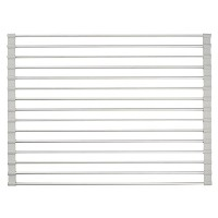 High Quality Metro Rustproof Aluminum Kitchen Sink Protector Grid - Large, Silver, Gray