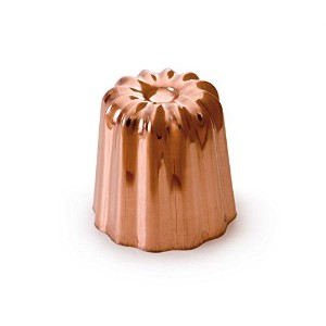High Quality Made In France M'Passion 4180.55 Canele 2-Inch Mold, Tinned Interior