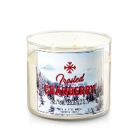 【Bath&Body Works/バス&ボディワークス】 アロマキャンドル フロステッドクランベリー 3-Wick Scented Candle Frosted Cranberry 14.5oz...