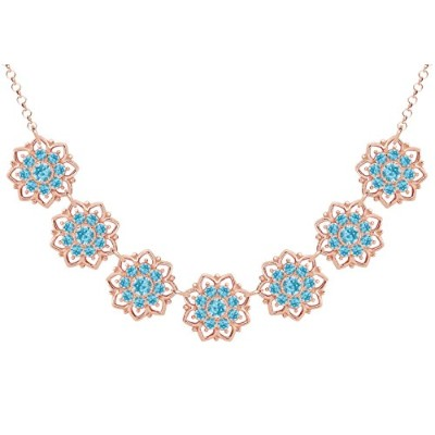 Lucia Costin .925 Silver, Light Blue Swarovski Crystal Necklace, Impressive