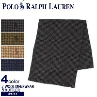 POLO RALPH LAUREN ポロ ラルフローレン WOOL MENSWEAR MUFFLER PC0009