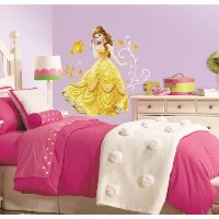 (ディズニー プリンセス ウォールステッカー) RoomMates RMK2551GM Disney Princess-Bell Peel and Stick Giant Wall Decals