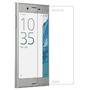 AMOVO【3D全面】SonyXperiaXZフィルムXperiaXZガラスフィルムエクスペリアXZ液晶保護フィルム0.26mm9H(XperiaXZクリア)