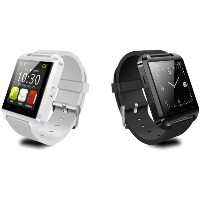 GeekEra U Watch Smart Watch Bluetooth Watch for Android smartphones and iPhone(Black)