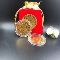 New Year Gold Gold Year 2018 Gold Souvenir Banknotes Coins
