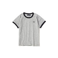 FRED PERRY  リンガーTシャツ グレー 【三越・伊勢丹/公式】 キッズファッション~~その他