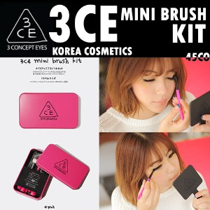 [韓国コスメ/韓国化粧品/韓国ファッション/ STYLENANDA]3CE MINI BRUSH KIT #PINK #BLACK PINKBLACK3CE MINI BRUSH KIT