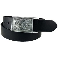 (リーバイス ベルト) Levi s Men s 38MM Plaque Bridle Belt With Snap Closure Black / Brown 38