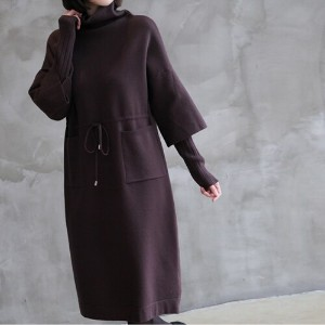 [zoozoom] Turtle knit dress 2color / 28559
