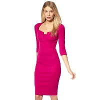 Bright Color Delicate Style Bodycon Party Dress