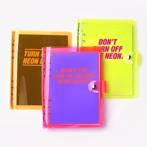 [date type] 2018 neon 365 A5 journal