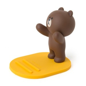 Line Friends Store Official Brown Character Figure Cellphone Cradle
