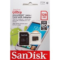 SanDiskUltra128GBUltraMicroSDXCUHS-I/Class10CardwithAdapter(SDSQUNC-128G-GN6MA)[NewestVersion]...