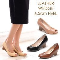 Leather Wedge Heel Shoes
