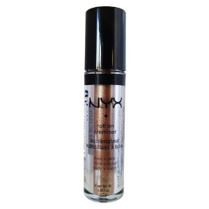 NYX Roll on Eye Shimmer / Almond - Bronze with Gold Glitter for Face Eyes&Body