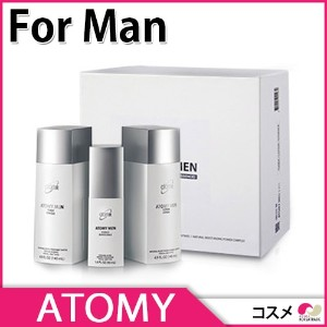 【ATOMY】韓国コスメ Atom美 MEN 3ITEM(TONER/LOTION/ESSENCE) 【コスメ】