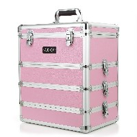 Abody Cosmetic Train Box Makeup Storage Case Makeup Artists 4 in 1 Makeup Case Lockable Case...