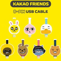 Kakao Friends 8-Pin USB Cable iPhone7/7Plus/iPhone6/6Plus/6S/6SPlusSE/5/5S/iPad/iPod アイフォン7...