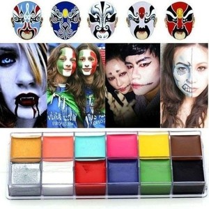 Halloween Face Body Paint Oil Painting Art Make Up Set  Party Fancy Dress