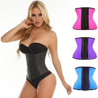 Steel Bone Waist Training Corset 100% Latex Corset Sexy Women Latex Waist Cincher Slimming...