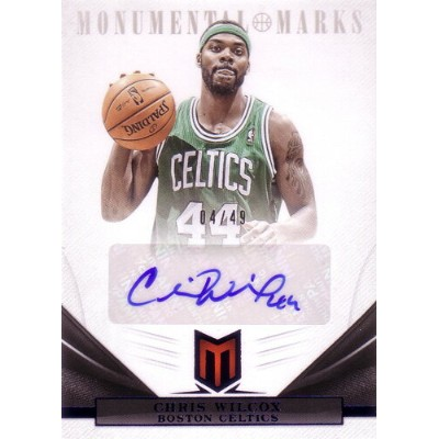 クリス・ウィルコックス NBAカード Chris Wilcox 12/13 Momentum Monumental Marks Blue 04/49