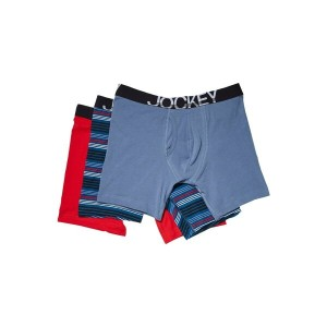 ジョッキー メンズ インナー・下着 ブリーフ【Cotton Stretch Low Rise Midway Brief】Peaceful Poppy/Moody Stripe Multi/Rough...