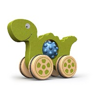 【BeginAgain Nubble Rumblers Dinoおもちゃ 木製玩具恐竜for Toddlers and Up Push Toy for触覚Play and Fineモータースキル開発...