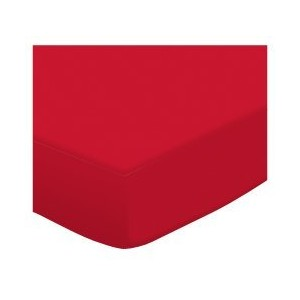 SheetWorld Fitted Pack N Play (Graco Square Playard) Sheet - Solid Red Jersey Knit - Made In USA by...