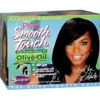 Lusters Pink Smooth Touch New Growth Relaxer Kit With Olive Oil Super (並行輸入品)