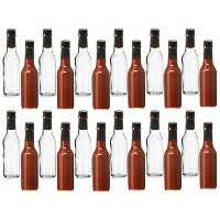 クリアガラスWoozy Bottles with Shrinkカプセル、5オンス – 12ケース 5 Oz with Screw Caps, & Shrink Capsules クリア saushb4