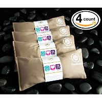 Happy Wrapsテつョ Yoga Flax Seed Eye Pillows Unscented - 4 Pieces - Tan Cotton by Happy Wrapsテつョ