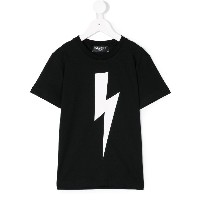 Neil Barrett Kids Lightning Bolt Tシャツ - ブラック