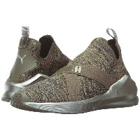 プーマ レディース シューズ・靴 スニーカー【Fierce Evoknit Metallic】Olive Night/Puma Silver