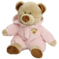 "【Ty Pluffies Pj Bear 9"" Pink by Ty Pluffies】 b0172k7tea"