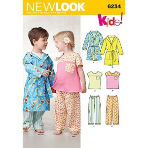 【Simplicity Creative Patterns New Look 6234 Toddlers' Top, Pants and Robe, A (1/2-1-2-3-4) by...