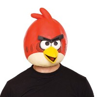 【Angry Birds Red Bird Latex Mask Adult 怒っている鳥赤い鳥ラテックスマスク大人用♪ハロウィン♪サイズ:One-Size】 n b007oos8y0