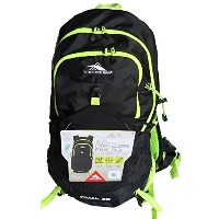 HIGH SIERRA FRONT LOADING FRAME BACK PACK OMAK 28L (BLACK W GREEN STRAPS) /ハイシェラ バックパック/リュック 28L ...