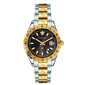 [ヴェルサーチ]Versace 腕時計 'HELLENYIUM GMT' Swiss Quartz Stainless Steel Casual Watch V11040015 メンズ [並行輸入品]