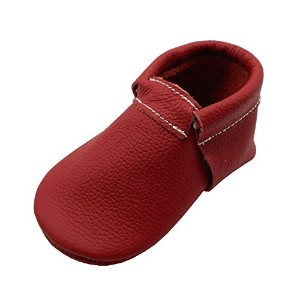 Baby CozyモカシンCrib最初WalkersソフトソールレザーシューズFiery Red ( Infant / Toddler ) US サイズ: US 4M (4.5in/3-6Month)