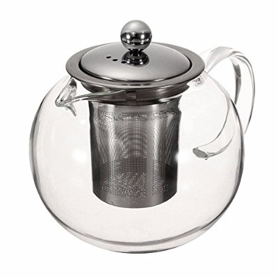 (1300 ml) - Teapot Set Stovetop Safe, 1420mls/1400 Millilitres Stylish Clear Glass Tea Kettle with...