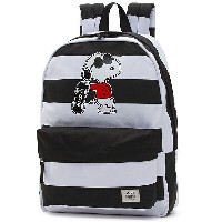 VANS ヴァンズ正規品バンズ バックパック リュック ピーナッツ スヌーピーコラボPEANUTS (REALM) SNOOPY BACKPACK BLACK WHITE VN0A3AOWO2U...