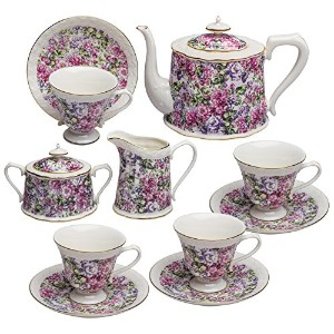 Grace茶道具11-piece Porcelain Teaセット TS-35154/11