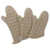 High Quality Oven Mitt, Tan, Flameguard, 15-Inch, Package of 4
